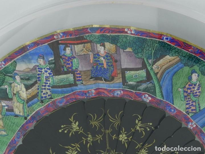 Antigüedades: Antiguo Abanico Chino de las 1000 caras de marfil. Siglo XIX. De FILIPINAS, Contiene 15 caras de mar - Foto 8 - 84294064