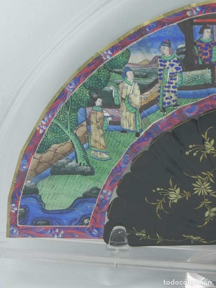 Antigüedades: Antiguo Abanico Chino de las 1000 caras de marfil. Siglo XIX. De FILIPINAS, Contiene 15 caras de mar - Foto 9 - 84294064