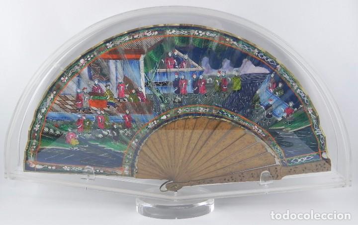 ANTIGUO ABANICO DE FILIPINAS DE LAS 1000 CARAS DE MARFIL. SIGLO XIX. CONTIENE 57 CARAS DE MARFIL, C (Antigüedades - Moda - Abanicos Antiguos)