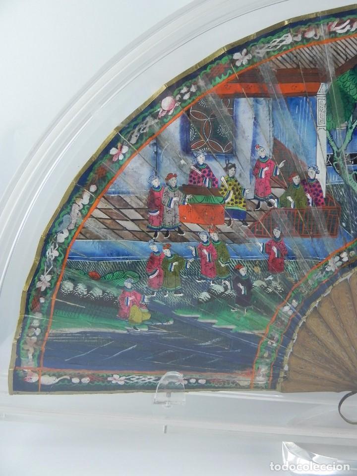 Antigüedades: Antiguo Abanico de FILIPINAS de las 1000 caras de marfil. Siglo XIX. Contiene 57 caras de marfil, c - Foto 4 - 84294252
