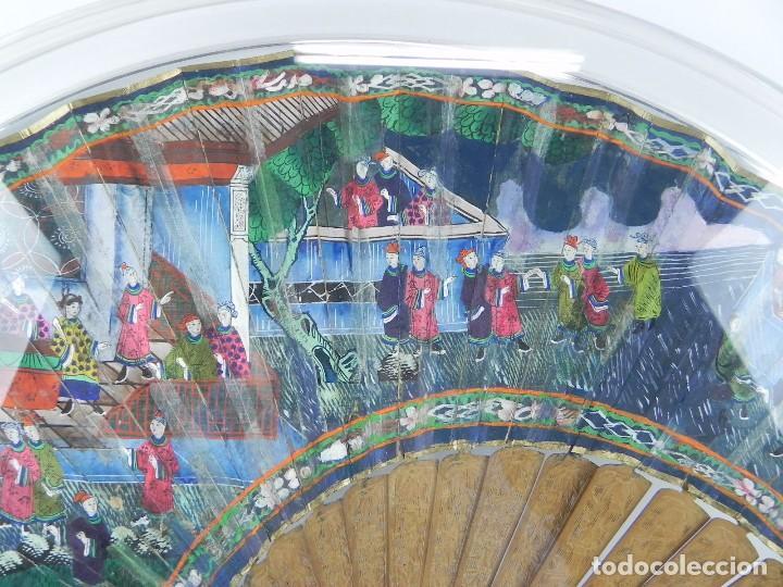 Antigüedades: Antiguo Abanico de FILIPINAS de las 1000 caras de marfil. Siglo XIX. Contiene 57 caras de marfil, c - Foto 5 - 84294252