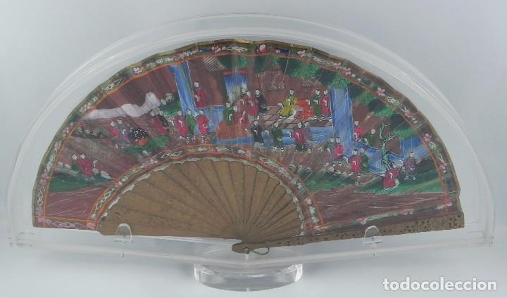 Antigüedades: Antiguo Abanico de FILIPINAS de las 1000 caras de marfil. Siglo XIX. Contiene 57 caras de marfil, c - Foto 7 - 84294252