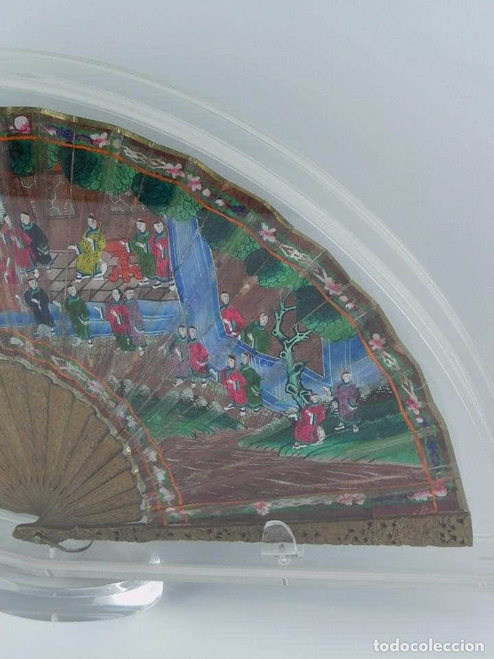 Antigüedades: Antiguo Abanico de FILIPINAS de las 1000 caras de marfil. Siglo XIX. Contiene 57 caras de marfil, c - Foto 8 - 84294252