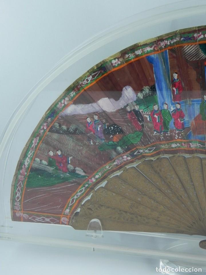 Antigüedades: Antiguo Abanico de FILIPINAS de las 1000 caras de marfil. Siglo XIX. Contiene 57 caras de marfil, c - Foto 9 - 84294252