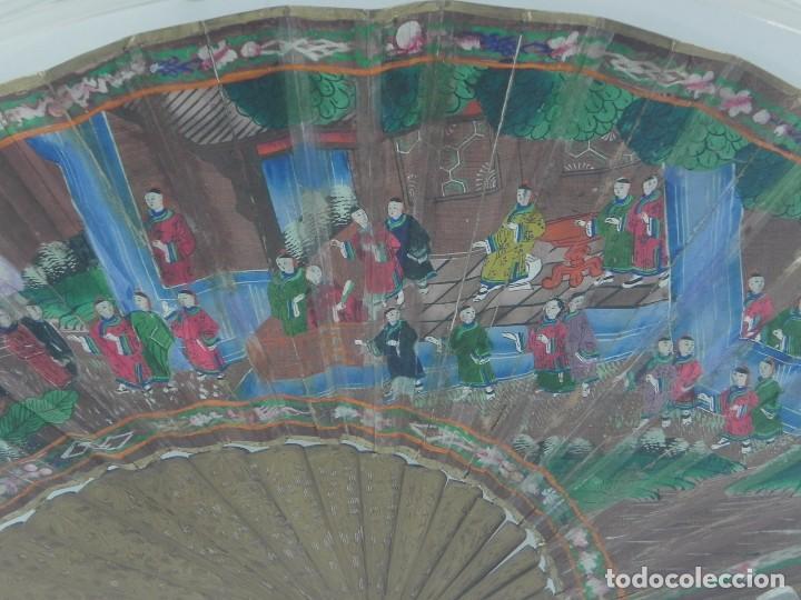Antigüedades: Antiguo Abanico de FILIPINAS de las 1000 caras de marfil. Siglo XIX. Contiene 57 caras de marfil, c - Foto 10 - 84294252