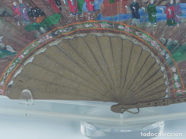 Antigüedades: Antiguo Abanico de FILIPINAS de las 1000 caras de marfil. Siglo XIX. Contiene 57 caras de marfil, c - Foto 11 - 84294252