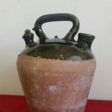 Antigüedades: ANTIGUO CANTIR BOTIJO CATALÁN VIDRIADO. Lote 84298722