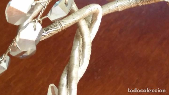Antigüedades: BONSAI EN CRISTAL DE SWAROVSKY CON HOJAS DE MURANO Y TRONCO EN HILO DE PLATA VER FOTOS - Foto 9 - 84311708