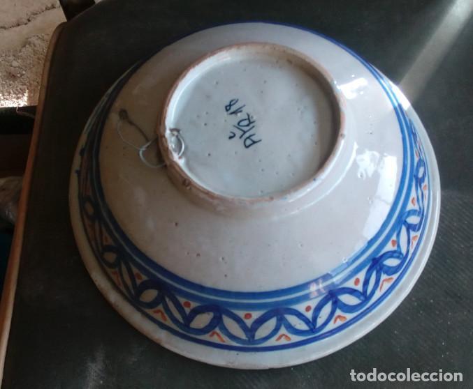 Antigüedades: BONITO PLATO HONDO FRUTERO FUENTE ENSALADERA DE CERAMICA DE TALAVERA, LOZA, PARA COLGAR, 17307 - Foto 2 - 84337176