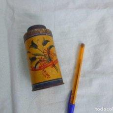 Antigüedades: ANTIGUO BOTE METALICO..TALCO TURMO....ZARAGOZA. Lote 84341532