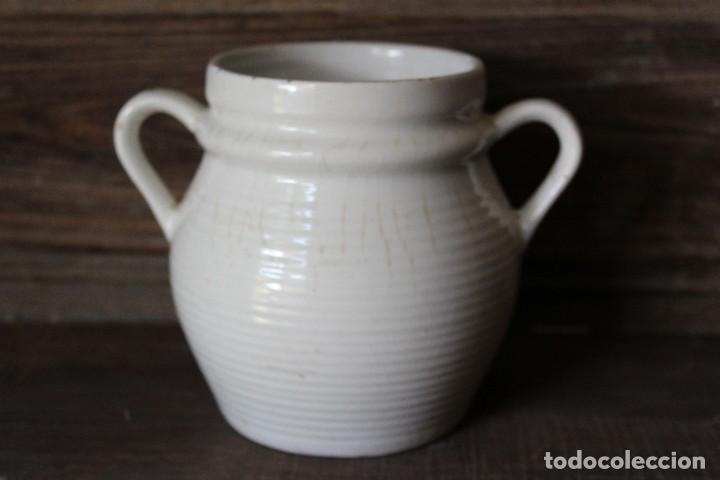 ANTIGUA RARA ORZA DE ALCORA O VASCA SOLO 14 CM EN CERÁMICA BLANCA O DE TIERRA DE PIPA (Antigüedades - Porcelanas y Cerámicas - Otras)