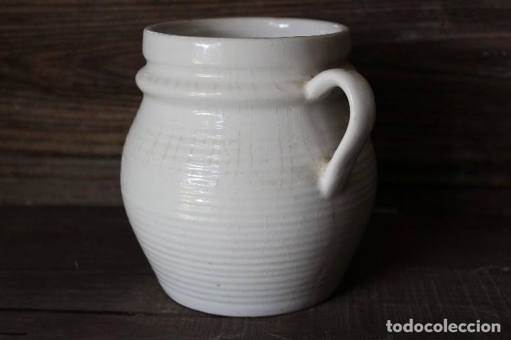 Antigüedades: ANTIGUA RARA ORZA de ALCORA o Vasca SOLO 14 CM EN CERÁMICA BLANCA O DE TIERRA DE PIPA - Foto 2 - 84348840