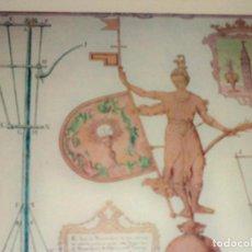 Antigüedades: LAMINA ENMARCADA CUADRO GIRALDILLO GIRALDA SEVILLA DIBUJO PEDRO MIGUEL GUERRERO. Lote 84372336