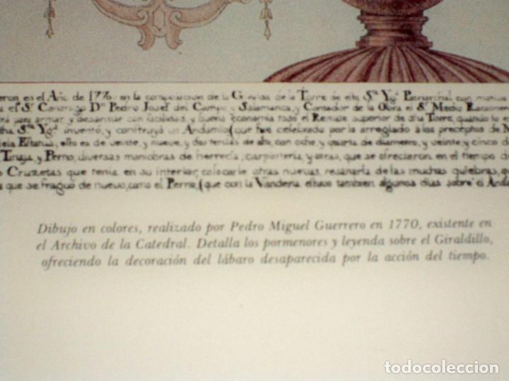 Antigüedades: LAMINA ENMARCADA CUADRO GIRALDILLO GIRALDA SEVILLA DIBUJO PEDRO MIGUEL GUERRERO - Foto 2 - 84372336