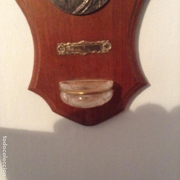 Antigüedades: ANTIGUA BENDITERA, MADERA, METAL Y VIDRIO. ORIGEN FRANCÉS. AÑOS 20 - Foto 3 - 84389464