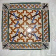 Antigüedades: COMPOSICION DE AZULEJOS RAMOS REJANO SIGLO XIX. Lote 84392036