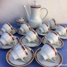 Antigüedades: JUEGO ANTIGUO CAFÉ EN PORCELANA DE BAVARIA SELLO MITTERTEICH. Lote 84426464