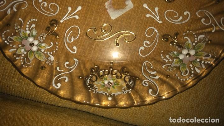 Antigüedades: Precioso plato de murano pintado a mano en oro 18K miren fotos - Foto 3 - 84433332