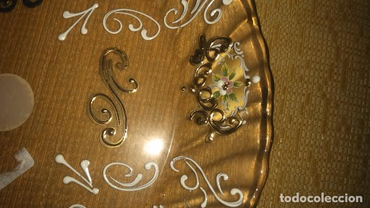 Antigüedades: Precioso plato de murano pintado a mano en oro 18K miren fotos - Foto 4 - 84433332