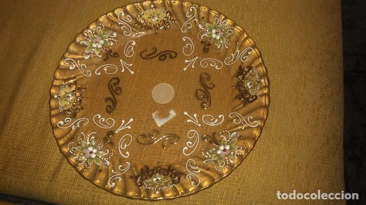 Antigüedades: Precioso plato de murano pintado a mano en oro 18K miren fotos - Foto 5 - 84433332
