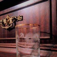 Antiquités: ANTIGUO VASO DE CRISTAL SOPLADO. LA REAL FABRICA DE LA GRANJA.. Lote 84436168