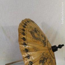 Antigüedades: SOMBRILLA JAPONESA PARAGUAS DE MADERA Y PAPEL DE ARROZ.. Lote 84442516