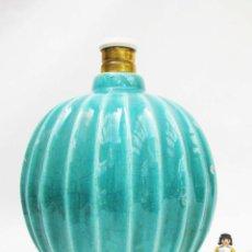 Antigüedades: PAUL AMI BONIFAS ART NOUVEAU DECO LAMP CIRCA 1930 CERAMICA VINTAGE AZUL PASTEL LAMPARA ANTIGUA. Lote 84444672