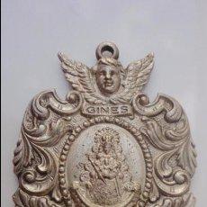 Antigüedades: ANTIGUA MEDALLA HERMANDAD NTRA SEÑORA DEL ROCIO.GINES,SEVILLA.. Lote 84454912