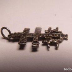 Antigüedades: ANTIGUA CRUZ DE CARAVACA EN PLATA 3 CMS. Lote 84470540
