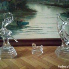 Antigüedades: LOTE DE HERMOSAS FIGURAS DE CRISTAL DE VENECIA. Lote 84488888