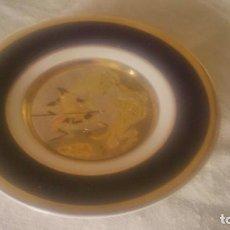 Antigüedades: PRECIOSO PLATO DE PORCELANA DECORADO CON METALES PRECIOSOS ORO Y PLATA .THE ART OF CHOKIN JAPÓN.60S. Lote 84535636
