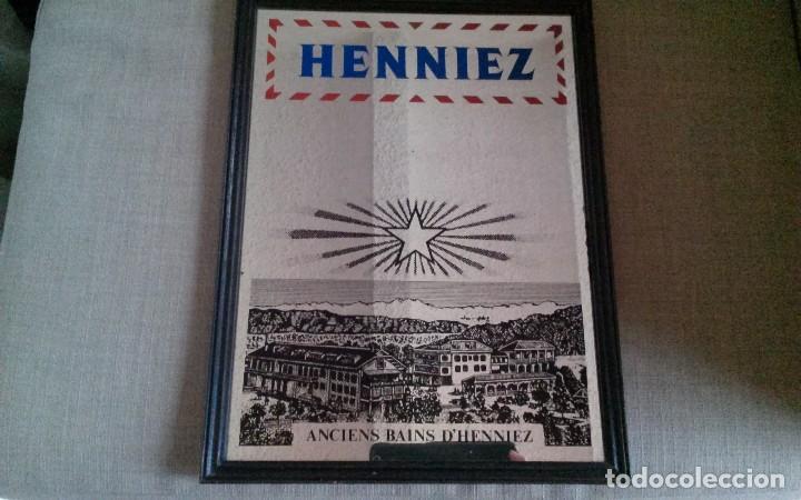 Antigüedades: Espejo publicidad Agua Henniez - Foto 2 - 84548688