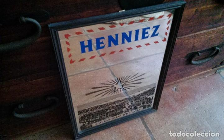 Antigüedades: Espejo publicidad Agua Henniez - Foto 4 - 84548688
