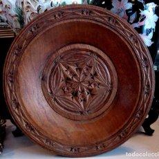 Antigüedades: ANTIGUO CENTRO ARABE EN MADERA TALLADA DE ROBLE - 32 CMS.. Lote 84557648