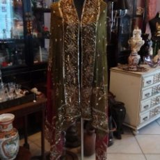 Antigüedades: ELEGANTE CHAL - ECHARPE DE CHIFFON BORDADO A MANO - 2,10 METROS.. Lote 84562000