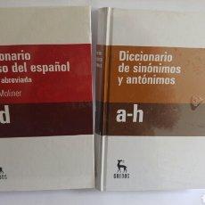 Diccionarios: 2 DICCIONARIO GREDOS SINONIMOS Y DE USO DEL ESPAÑOL.. Lote 84575395