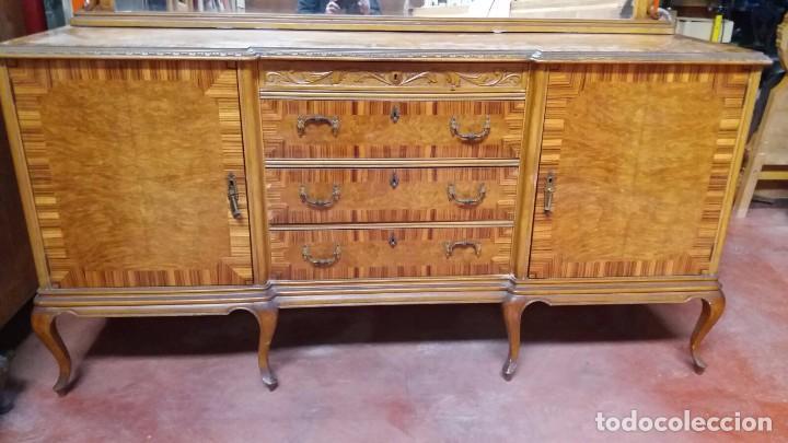 Antigüedades: mueble de comedor-aparador - - Foto 2 - 84591652