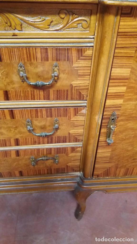 Antigüedades: mueble de comedor-aparador - - Foto 3 - 84591652