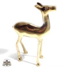 Antigüedades: PRECIOSA CIERVA EN BRONCE 15 CM DE ALTA - MUY BUEN ESTADO. Lote 84598628