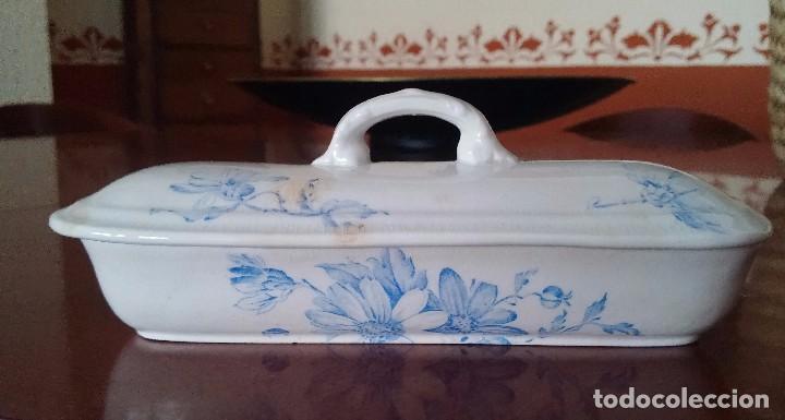 Antigüedades: Cajita porcelana decorada - Foto 2 - 84599096