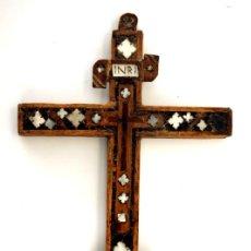 Antigüedades: CRUZ RELICARIO FRANCISCANO DE JERUSALEN - S. XVIII. Lote 84618372