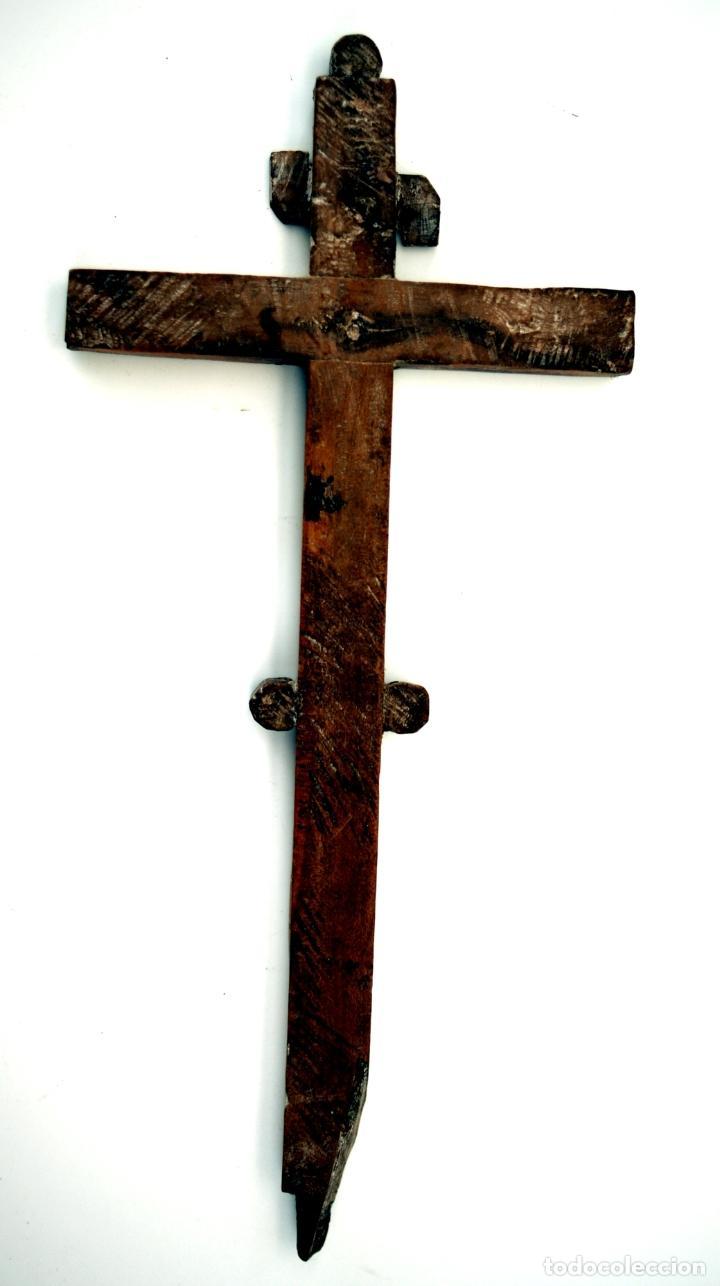 Antigüedades: CRUZ RELICARIO FRANCISCANO DE JERUSALEN - S. XVIII - Foto 3 - 84618372