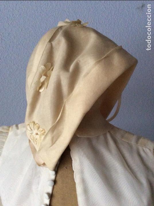 Antigüedades: PRECIOSO VESTIDO DE COMUNIÓN ANTIGUO CON TOCADO - Foto 2 - 84699728