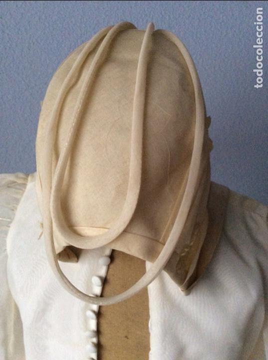 Antigüedades: PRECIOSO VESTIDO DE COMUNIÓN ANTIGUO CON TOCADO - Foto 4 - 84699728
