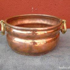 Antigüedades: MACETERO DE COBRE REDONDO.. Lote 84704480