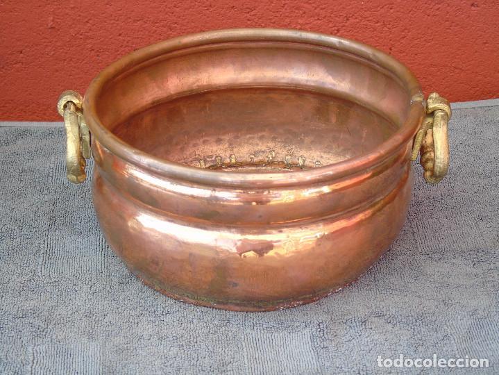 Antigüedades: MACETERO DE COBRE REDONDO. - Foto 2 - 84704480