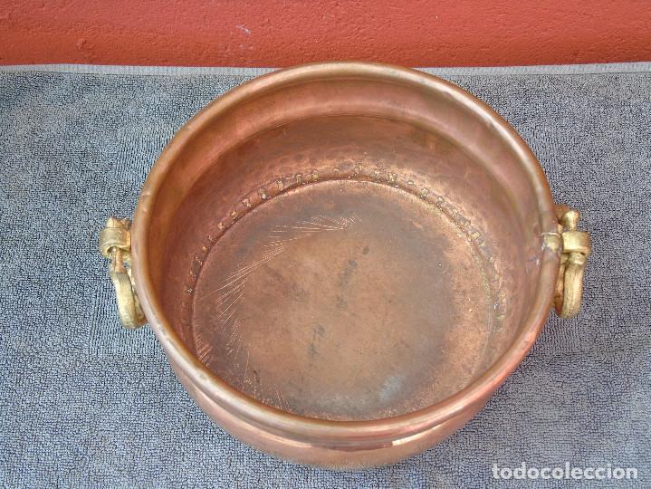 Antigüedades: MACETERO DE COBRE REDONDO. - Foto 5 - 84704480