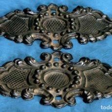 Antigüedades: ANTIGUOS Y BONITOS ADORNOS DE LATÓN - DECORACIÓN PARA MUEBLES - BAÚLES - ETC - REMATES - ORNAMENTOS. Lote 84704996