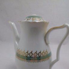 Antigüedades: CAFETERA SANTA CLARA CON DORADOS. Lote 84708676
