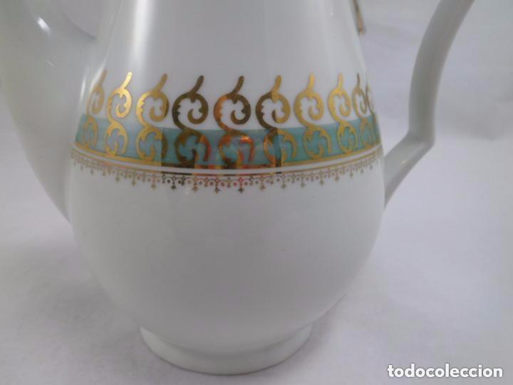 Antigüedades: CAFETERA SANTA CLARA CON DORADOS - Foto 4 - 84708676